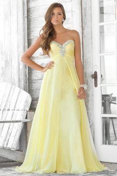 Sunshine Yellow Prom Dresses