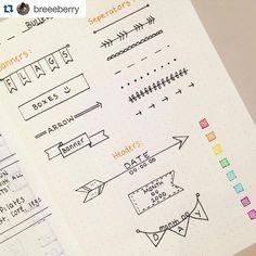 """341 Likes, 2 Comments - Bullet Journal Inspire (@bujoinspire) on Instagram: """"Inspiração de detalhes que fazem a diferença no BuJo ---------------------------------- Use…"""""""