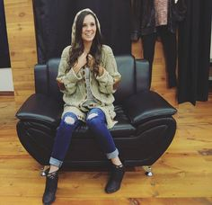 Look how happy Erin looks in this cozy outfit from Trend and Couture by Ann Manning