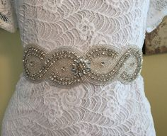 Crystal Bridal Belt Rhinestone Bridal Belt by BellaCescaBoutique