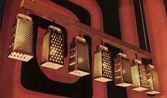 That 70's show kitchen lights- Grater Light Fixtures. DIY?