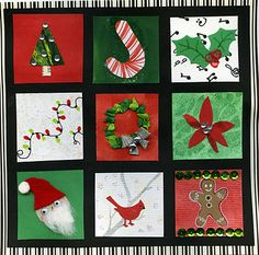 Christmas Inchies - use as tags, place cards, scrapbook embellishments.  Lots of fun to make!