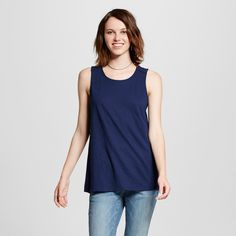 Women's Muscle Tank Top Navy (Blue) Xxl - Mossimo Supply Co.