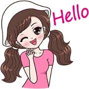 My name is Boobib.I like to wear polka dot dress. Let enjoy with my lovely stickers.