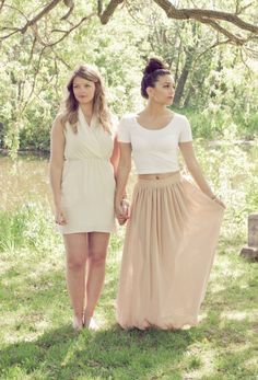 Bride and Bridesmaid pink wedding inspiration, little alexa photography, via Aphrodite's Wedding Blog