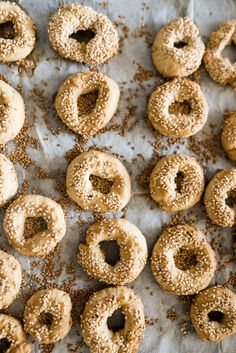 Ka'ak: Savory Cookies with Sesame and Caraway Seeds — Gather a Table Armenian Recipes, Lebanese Recipes, Lebanese Kaak Recipe, Lebanese Desserts, Lebanese Cuisine, Arabic Recipes, Lebanon Food, Sesame Cookies, Middle Eastern Desserts