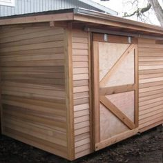 Sliding Wooden Garden Shed Doors , Garden Shed Doors In Landscaping And Outdoor Building Category