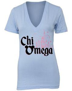 Chi Omega Disney Castle shirt