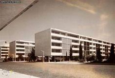 Célula VIII Bairro de Alvalade vulgo Bairro das Estacas, 1949-1954 : Bairro São João de Deus, Lisboa, Ruy D' Athouguia em colaboração com Formosinho Sanches