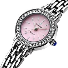 With Gift Box! Best Quality! 2016 Fashion Crystal Watch Women Casual Quartz Watch Lady Wristwatch Mother Girl Gift 8810