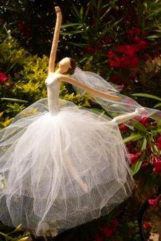 novia bailarina figura, colgante papel cartapesta