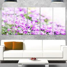 DESIGN ART Designart 'Beautiful Campanula Flower Bouquet' Floral Glossy Metal Wall Artwork