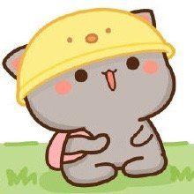 Cute Cartoon Drawings, Cute Animal Drawings, Kawaii Drawings, Chibi Cat, Anime Chibi, Cute Love Pictures, Cute Images, Mochi, Cat Couple