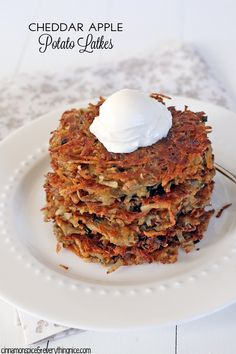 Cheddar Apple Potato Latkes