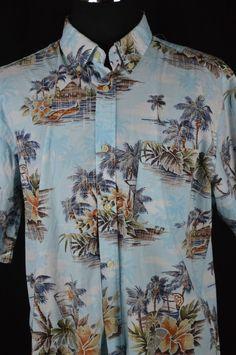 David Taylor Collection mens shirt hawaiian waikiki button up pocket casual XL Tiki Hut, Mens Xl, Hawaiian, Button Down Shirt, Men Casual, Buttons, Shirt Dress, Pocket, Mens Tops