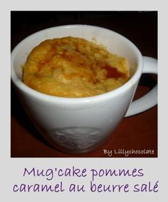 Mug'cake pommes caramel au beurre salé