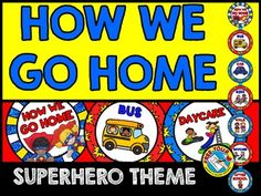 Monitor each child's dismissal in your class by using this fun Superhero themed clip chart. A great tool to keep track of how kids go home and to make this procedure run smoothly. Perfect to aid substitute teachers in case you miss school!