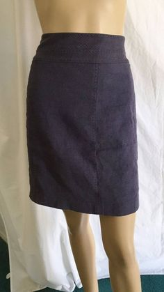This is a linen and cotton blend skirt from Rebecca Taylor. The color is medium purple, it has a zipper down the back, the zipper has a ribbon zipper pull on it. It is lined. OTHER INFORMATION. | eBay!