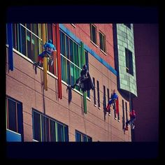Childrens Hospital Of Pgh SuperHero Window Washers | Randy Baumann & the DVE Morning Show - Radio Home of the Pittsburgh Steelers