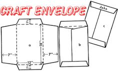 How to Make a Large Arts & Craft Project Envelope