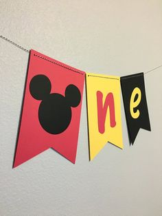 Silla Mickey Mouse Banner/1er cumpleaños Banner/Mickey Mouse