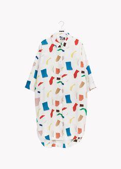 NAISTEN – Papu Button Up Dress, Collar Dress, Timeless Design, Blue Brown, Organic Cotton, Men Casual, Sleeves, Mens Tops, Clothes