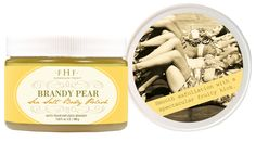 Brandy Pear Sea Salt Body Polish- Fruity sensation. Get smooth and soft skin. Easy exfoliation with a light and refreshing scent!