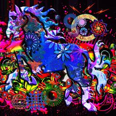 'Abstract Dream Design Horse' by Blake Robson on artflakes.com as poster or art print $14.38