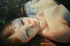 Bronwyn Hill is a portrait and figurative artist. Using oil paint and layering techniques she creates realistic images of women in natural settings. http://www.bronwynhill.com/ ,#artpeople