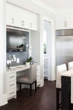 30 Clever Ideas To Design A Functional Office In Your Kitchen