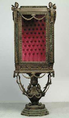Brass curio/display cabinet