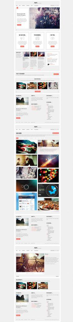 Props  |  Responsive, Corporate, Wordpress Template  |  themeforest  |  http://demo.designerthemes.com/props/