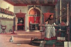 St. Augustine in His Study (by  Vittore Carpaccio 1502)