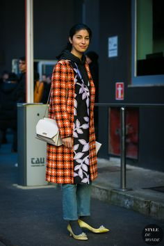 Milan Men's FW 2017 Street Style: Caroline Issa