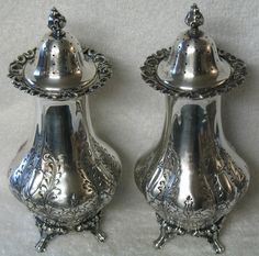 9 Best Antique Silver Salt And Pepper Pots Images