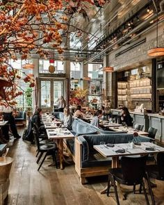 cafe restaurant The Style That Binds Us: New York Little Black Book - Flower Magazine Restaurant Hamburg, Restaurant Hotel, Restaurant Branding, Restaurant Ideas, Coffee Shop Design, Cafe Design, Design Design, Design Ideas, Cafe Bar