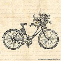 vintage bicycle / digital download etsy $1