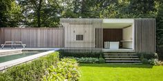 Pool house W in Belgium by Bogarden
