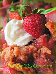 Just Dip It In Chocolate: Strawberry Royale Dump Cake Recipe