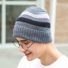 SANOMY Men Beanies Knit Hat,Winter Warm Fur Skullies Beanie Bonnet Hat Fleece Cap Wool Hat Knitting