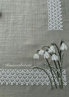 Kanevice Towel Embroidery, Embroidery Tattoo, Hand Embroidery Stitches, White Embroidery, Hand Embroidery Designs, Cross Stitch Embroidery, Embroidery Patterns, Cross Stitch Borders, Cross Stitch Designs