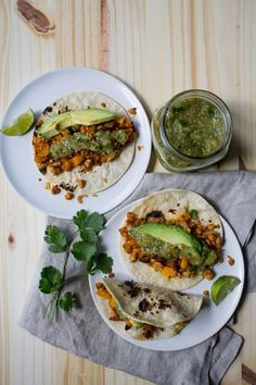 Butternut Squash and Tempeh Tacos