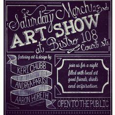 Finished Art Show Poster via evadesignstudio