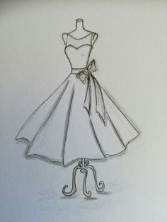 Fashion design sketches 145522631697602762 - Source by mariepierrealbo Dress Design Drawing, Dress Design Sketches, Fashion Design Sketchbook, Dress Drawing, Fashion Design Drawings, Fashion Sketches, Girly Drawings, Art Drawings Sketches Simple, Pencil Art Drawings