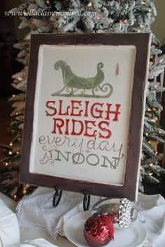 Sleigh Rides Christmas Free Printable by Ella Claire