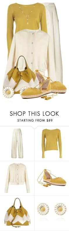 """CHLOE 'Charlie' bag"" by queenrachietemplateaddict ❤ liked on Polyvore featuring Studio Nicholson, Lamberto Losani, Christopher Kane, Franco Sarto, Chloé, Chanel, white, cardigan, pants and twocolors"