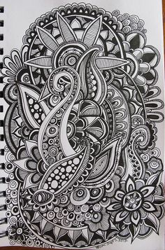 Zentangle/ doodle art drawn with colorpencils and fineliners image 8 Tangle Doodle, Tangle Art, Zen Doodle, Doodle Art, Zentangle Drawings, Doodles Zentangles, Doodle Drawings, Easy Zentangle, Doodle Patterns