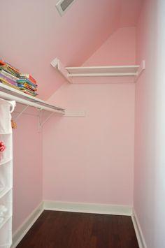 Attic Walk In Closet Slanted Ceiling