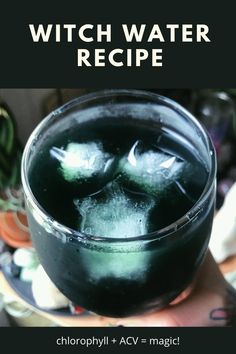 """Reap the benefits of chlorophyll and apple cider vinegar with my favorite witch recipe for a healthy drink, """"witch water."""" Check out the full witchy recipe on California Witchcraft! Magick, Witchcraft, Wicca Recipes, Hedge Witch, Kitchen Witchery, Herbal Magic, Witches Brew, Acv, Water Recipes"""