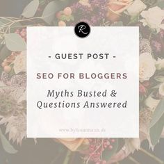 Sam Charles from Float Digital sheds light on the confusing world of blogging & SEO on the blog! Definitely worth a read (link in bio) - also she just got engaged today!! Congratulations to @samcharleseuk 🎉